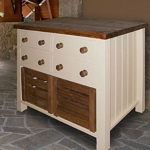 Free standing kitchen drawer unit