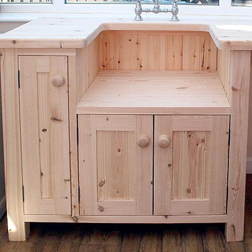 Freestanding Kitchen Sink Unit - Pippy Oak Freestanding