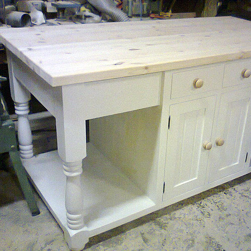 Freestanding painted large kitchen island kitchen table